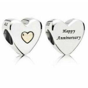 Pandora - Anniversary Charm - Silver & 14k Gold